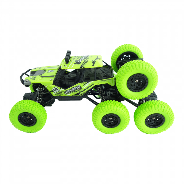 Monster Off-Road, 4x4, 8 roti de cauciuc, 27 cm, verde 1