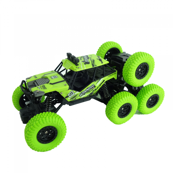 Monster Off-Road, 4x4, 8 roti de cauciuc, 27 cm, verde 2