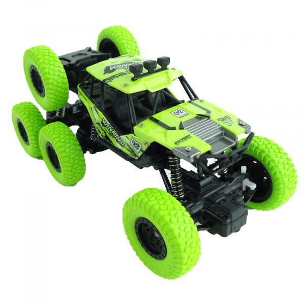 Monster Off-Road, 4x4, 8 roti de cauciuc, 27 cm, verde 5