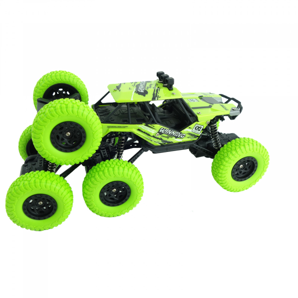 Monster Off-Road, 4x4, 8 roti de cauciuc, 27 cm, verde 4