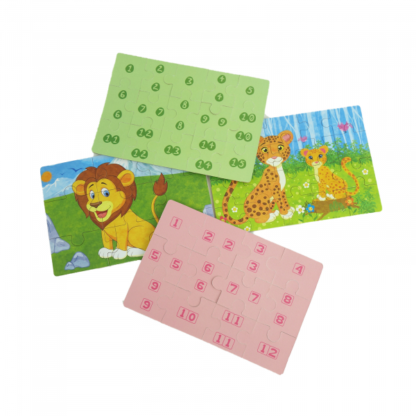 Set 4 puzzle educative in cutie metalica 4
