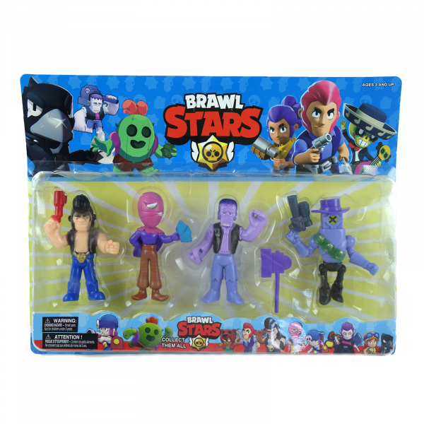 Set 4 figurine Brawl Stars 0