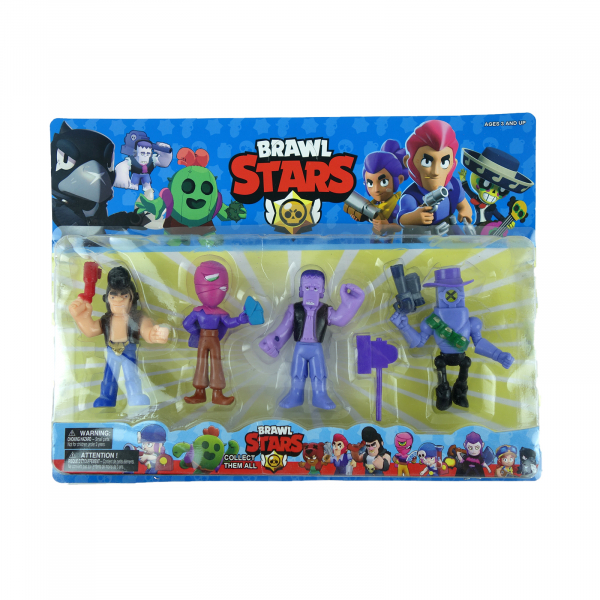 Set 4 figurine Brawl Stars 1