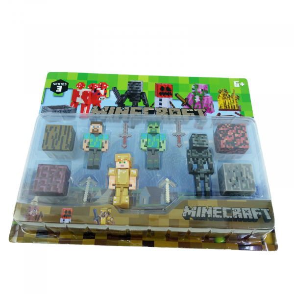 Set 4 figurine Minecraft 1