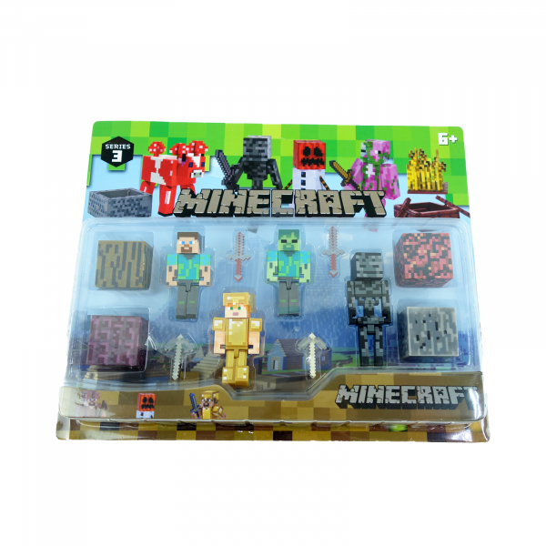 Set 4 figurine Minecraft 2