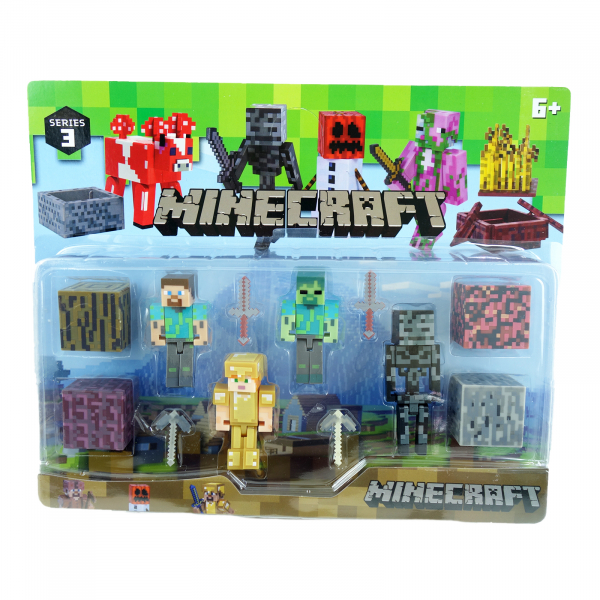 Set 4 figurine Minecraft 0