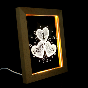 Rama luminoasa cu led, model I LOVE YOU2