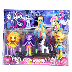 Set 3 figurine Ponei Equestria Girls, mini, 11 cm0