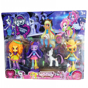 Set 3 figurine Ponei Equestria Girls, mini, 11 cm1