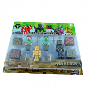 Set 4 figurine Minecraft1
