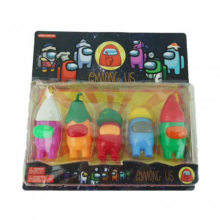 Set de 5 figurine Among Us. multicolor, cu luminite, 12 cm2