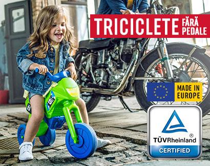 Triciclete fără pedale