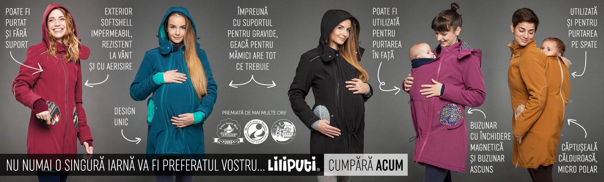 Banner - Geaca pentru mamici Liliputi