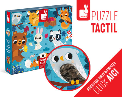 Puzzle tactil - Animale din pădure
