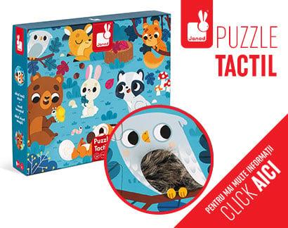 Puzzle tactil - Animale din pădure