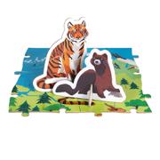 Puzzle educativ - Animale pe cale de la dispariție - 200 de piese, Janod J02676