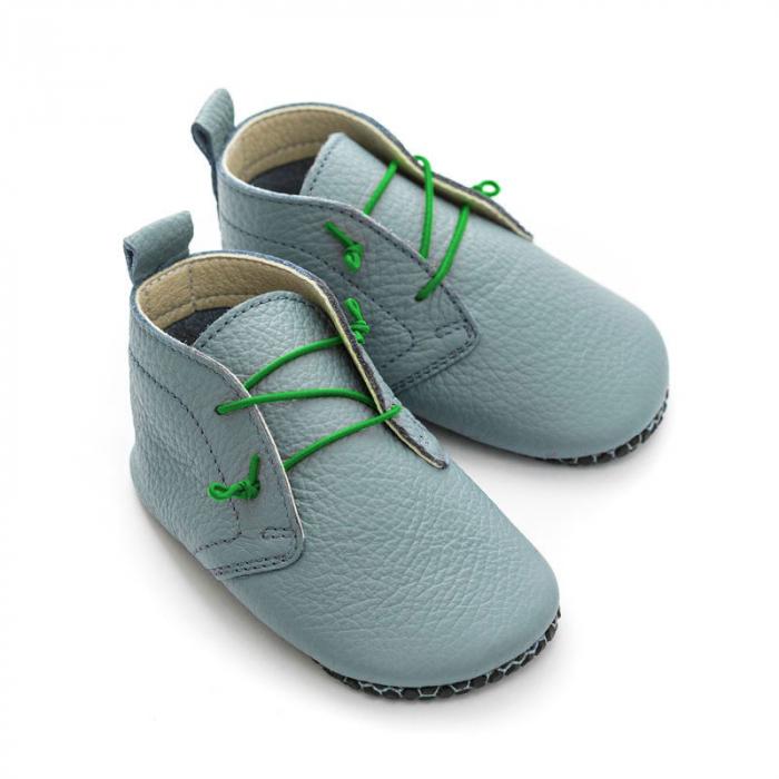 Șireturi elastice - pantofi Liliputi Urban - Green 2