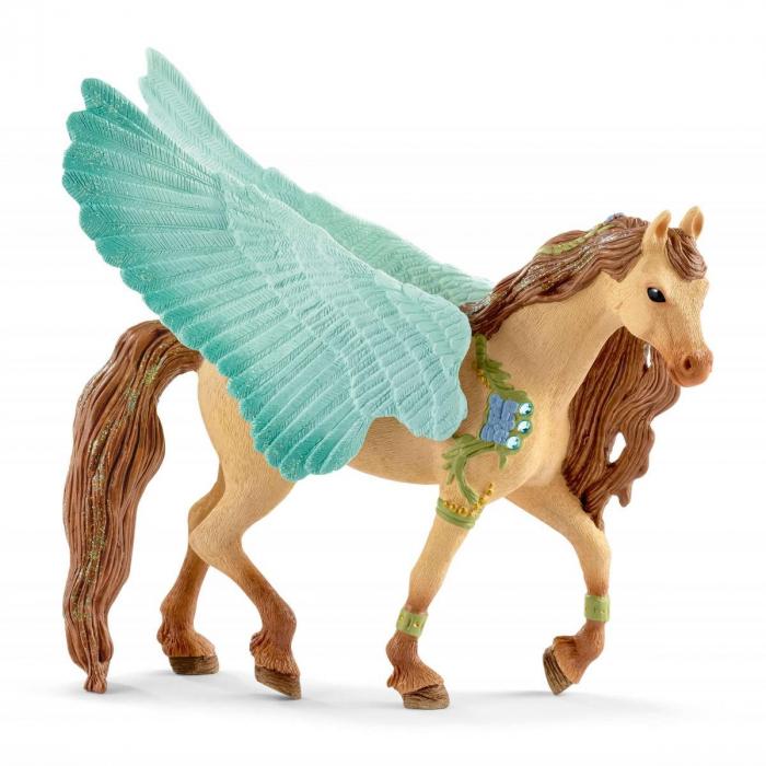 Armăsar Pegasus decorat - Figurina Schleich 70574 0