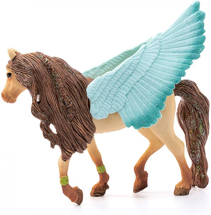 Armăsar Pegasus decorat - Figurina Schleich 70574 1