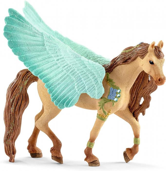 Armăsar Pegasus decorat - Figurina Schleich 70574 4