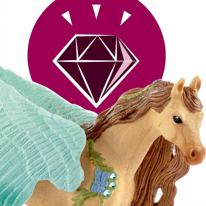 Armăsar Pegasus decorat - Figurina Schleich 70574 5