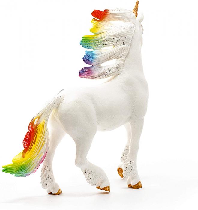 Armăsar unicorn curcubeu cu strasuri - Figurina Schleich 70523 1