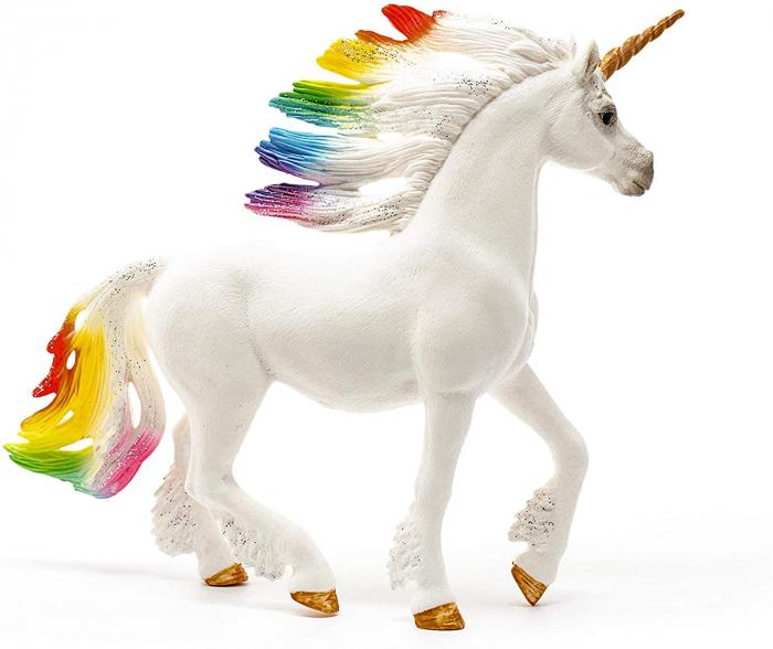 Armăsar unicorn curcubeu cu strasuri - Figurina Schleich 70523 3