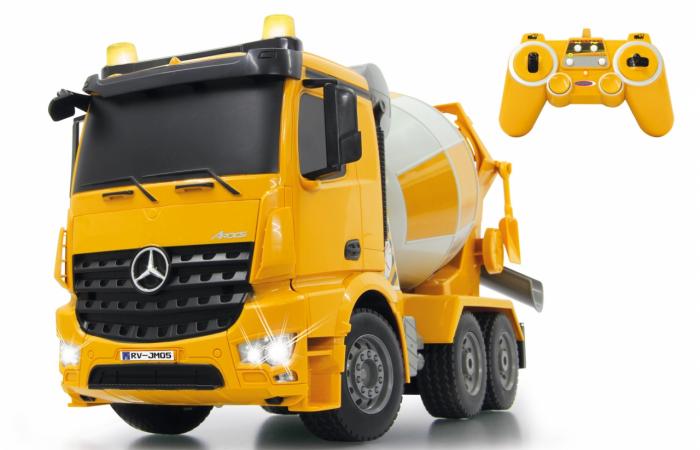 Betonieră cu telecomandă Mercedes-Benz Arocs 1:20, Jamara 404930 [0]