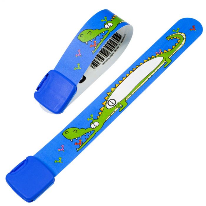 Brățară refolosibilă de identificare pentru copii Infoband 430319 - Cu crocodil 0