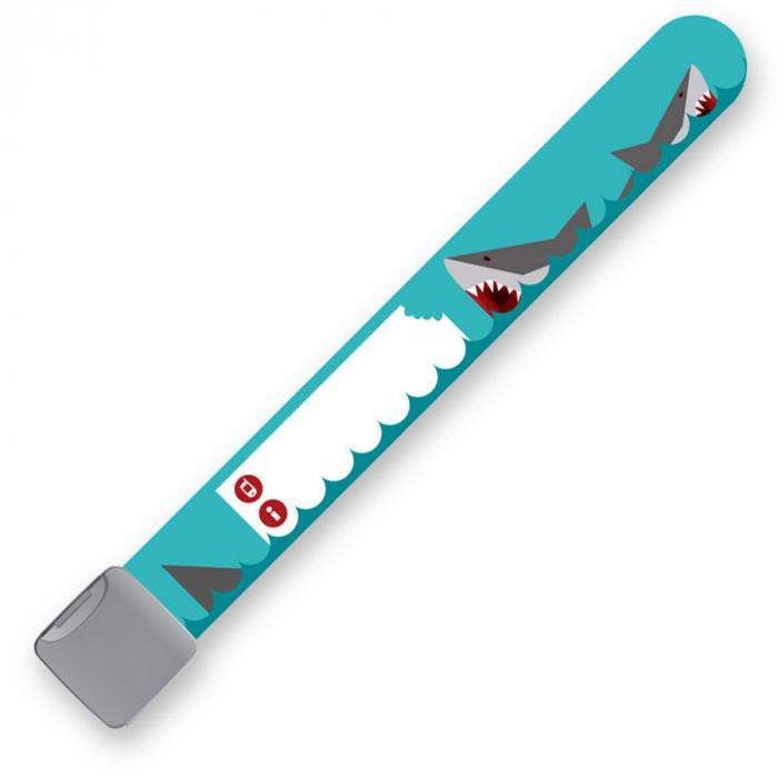 Brățară refolosibilă de identificare pentru copii Infoband - Cu rechini 1