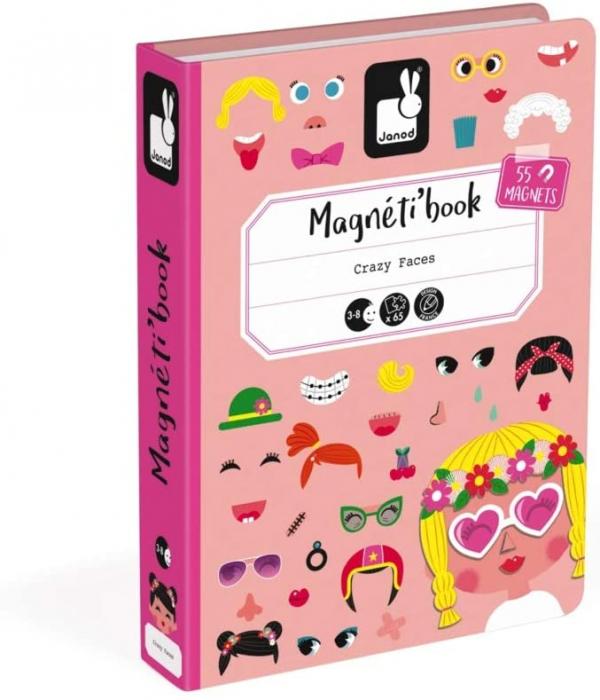 Carte magnetică - Fețe haioase de fetiță - Janod J02717 1