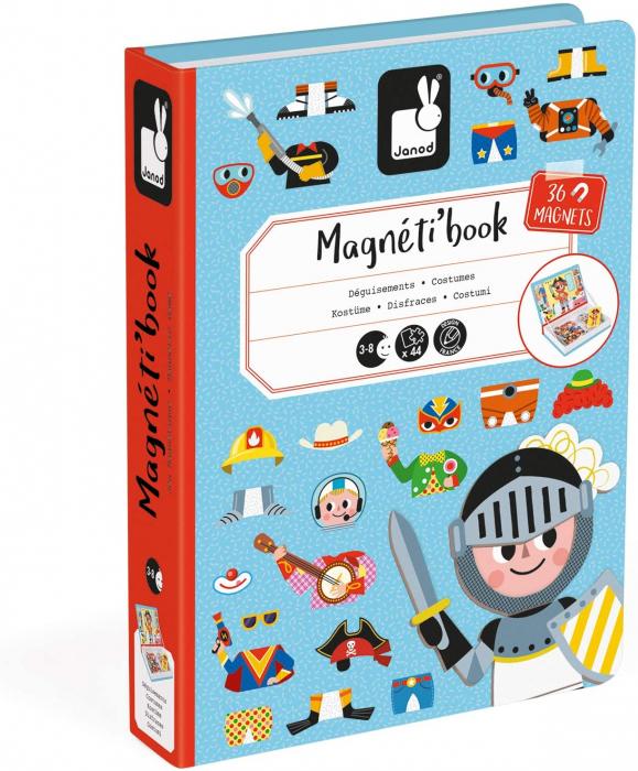 Carte magnetică - Hainuțe pentru băieți - Janod J02719 1