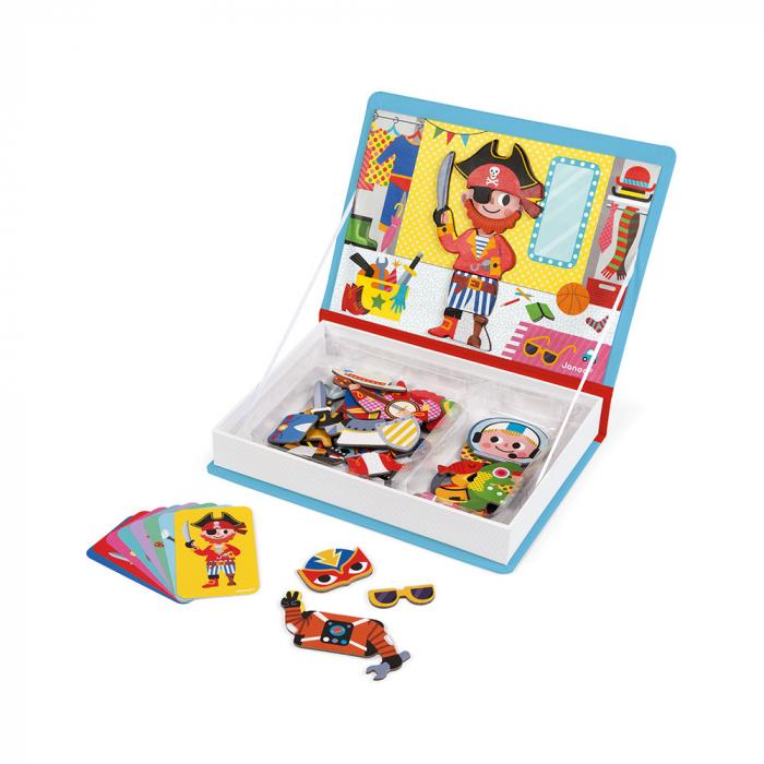 Carte magnetică - Hainuțe pentru băieți - Janod J02719 2