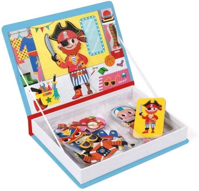 Carte magnetică - Hainuțe pentru băieți - Janod J02719 5