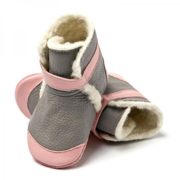Cizme cu talpă moale Liliputi® - Alps Grey 0
