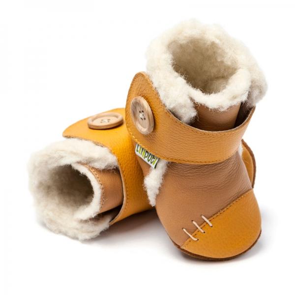 Cizme cu talpă moale Liliputi® - Arctic Caramel 0