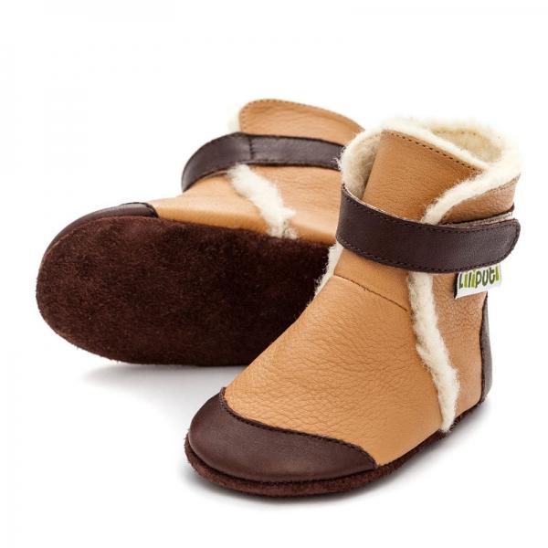 Cizme cu talpă moale Liliputi® - Eskimo Caramell 0