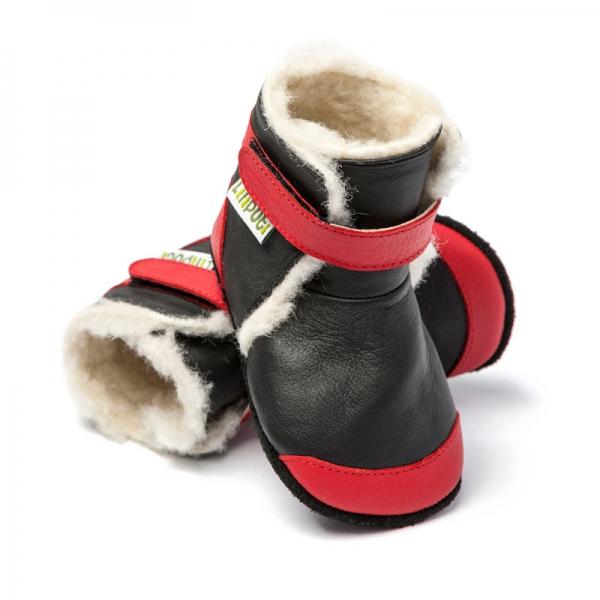 Cizme cu talpă moale Liliputi® - Himalaya Black 0