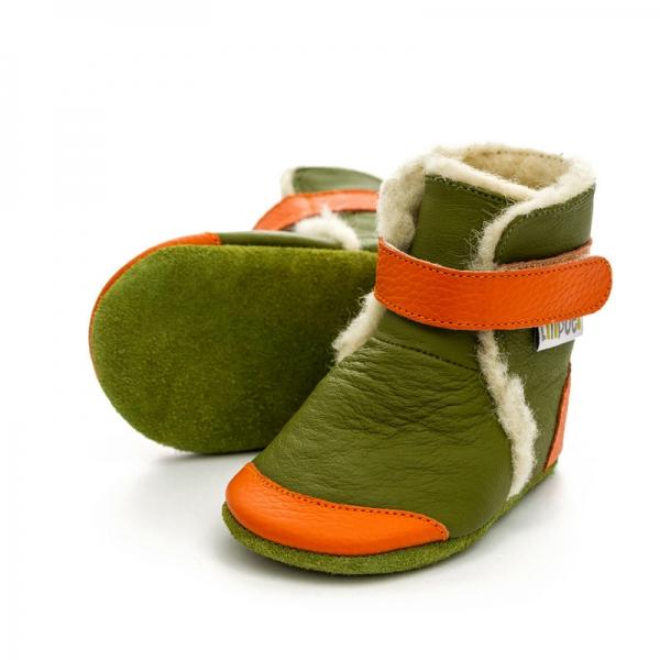 Cizme cu talpă moale Liliputi® - Jungle 0