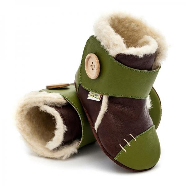 Cizme cu talpă moale Liliputi® - Snowflake Brown 0