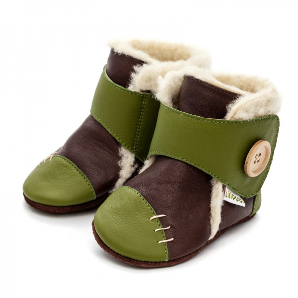 Cizme cu talpă moale Liliputi® - Snowflake Brown