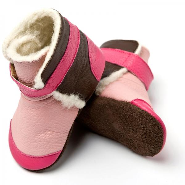 Cizme cu talpă moale Liliputi® - Yukon Pink 0