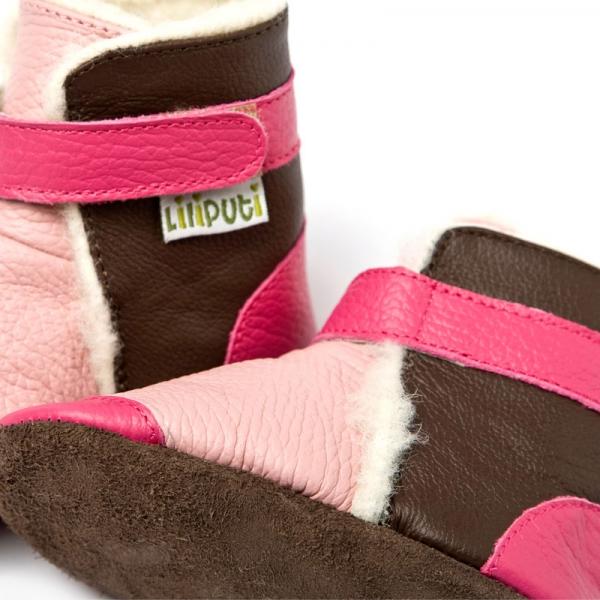 Cizme cu talpă moale Liliputi® - Yukon Pink 1