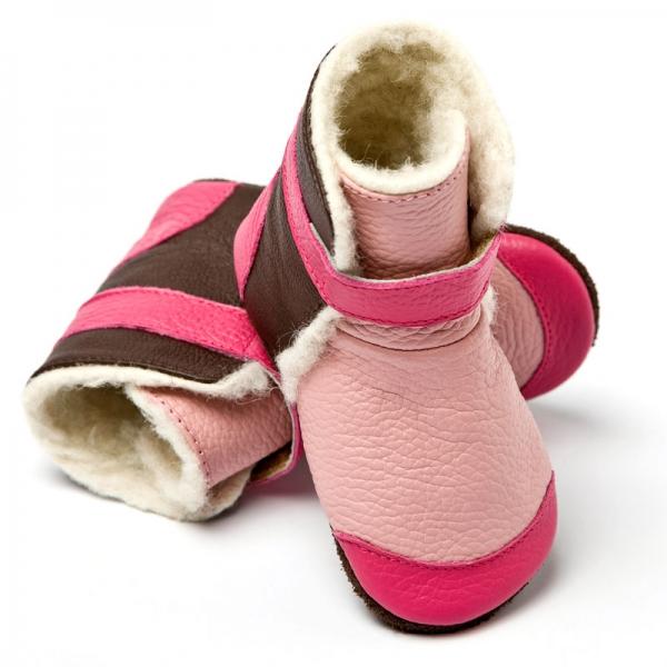 Cizme cu talpă moale Liliputi® - Yukon Pink 2