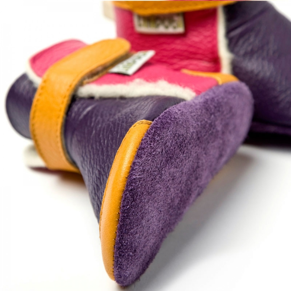 Cizme cu talpă moale Liliputi® - Yukon Yellow 1