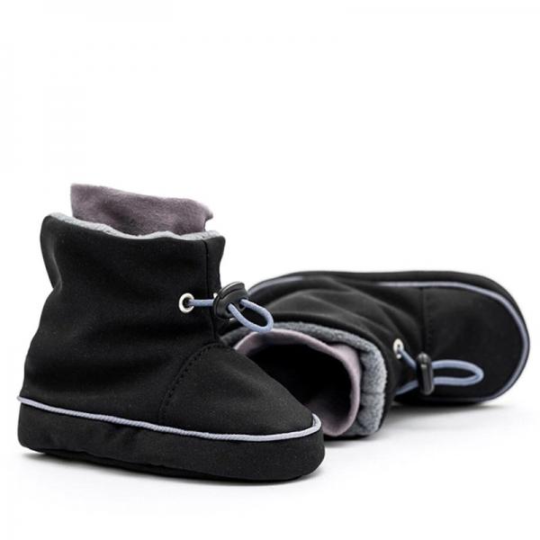 Cizme la purtat Liliputi® - Black Grey 1