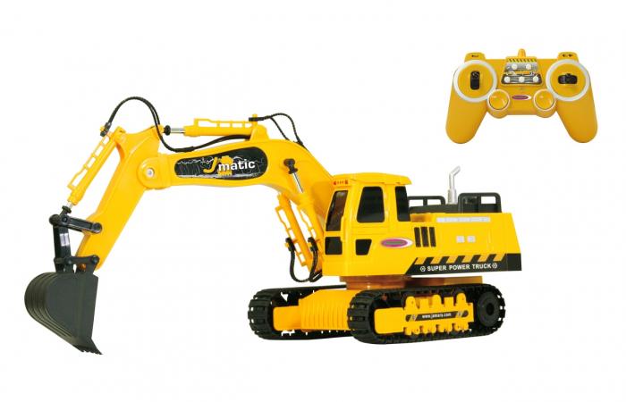 Excavator cu telecomandă J-Matic 1:27, Jamara 404920 0