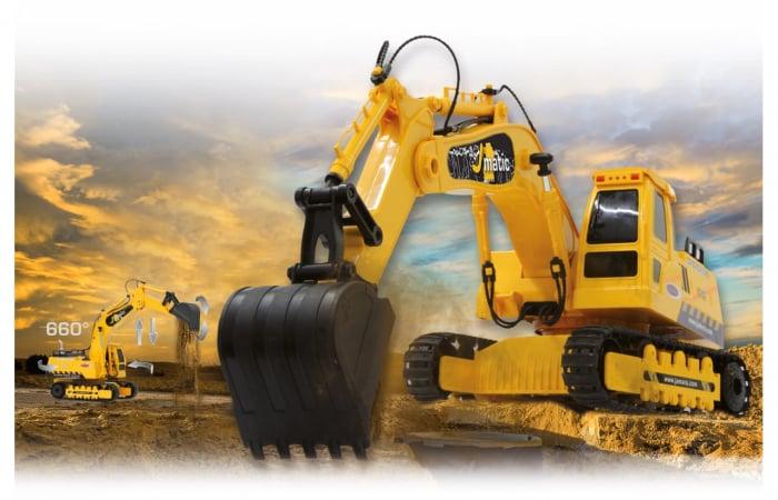 Excavator cu telecomandă J-Matic 1:27, Jamara 404920 8