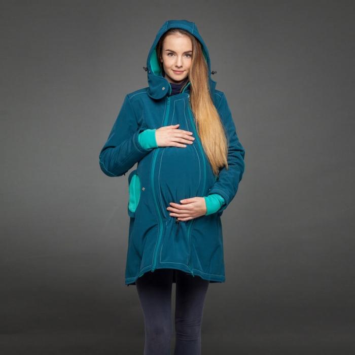 Geacă pentru mămici 4in1 Liliputi® - Azure Turquoise 1