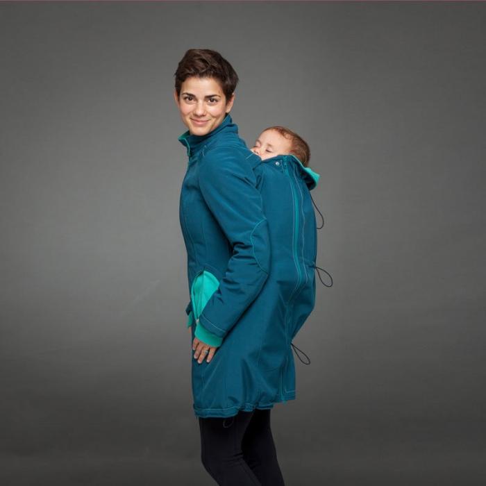 Geacă pentru mămici 4in1 Liliputi® - Azure Turquoise 2